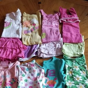 (8) shirts + short/skirts 18m *bundle*